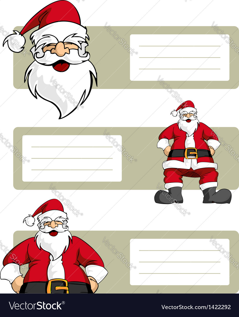 Santa claus blank labels vector | Price: 1 Credit (USD $1)