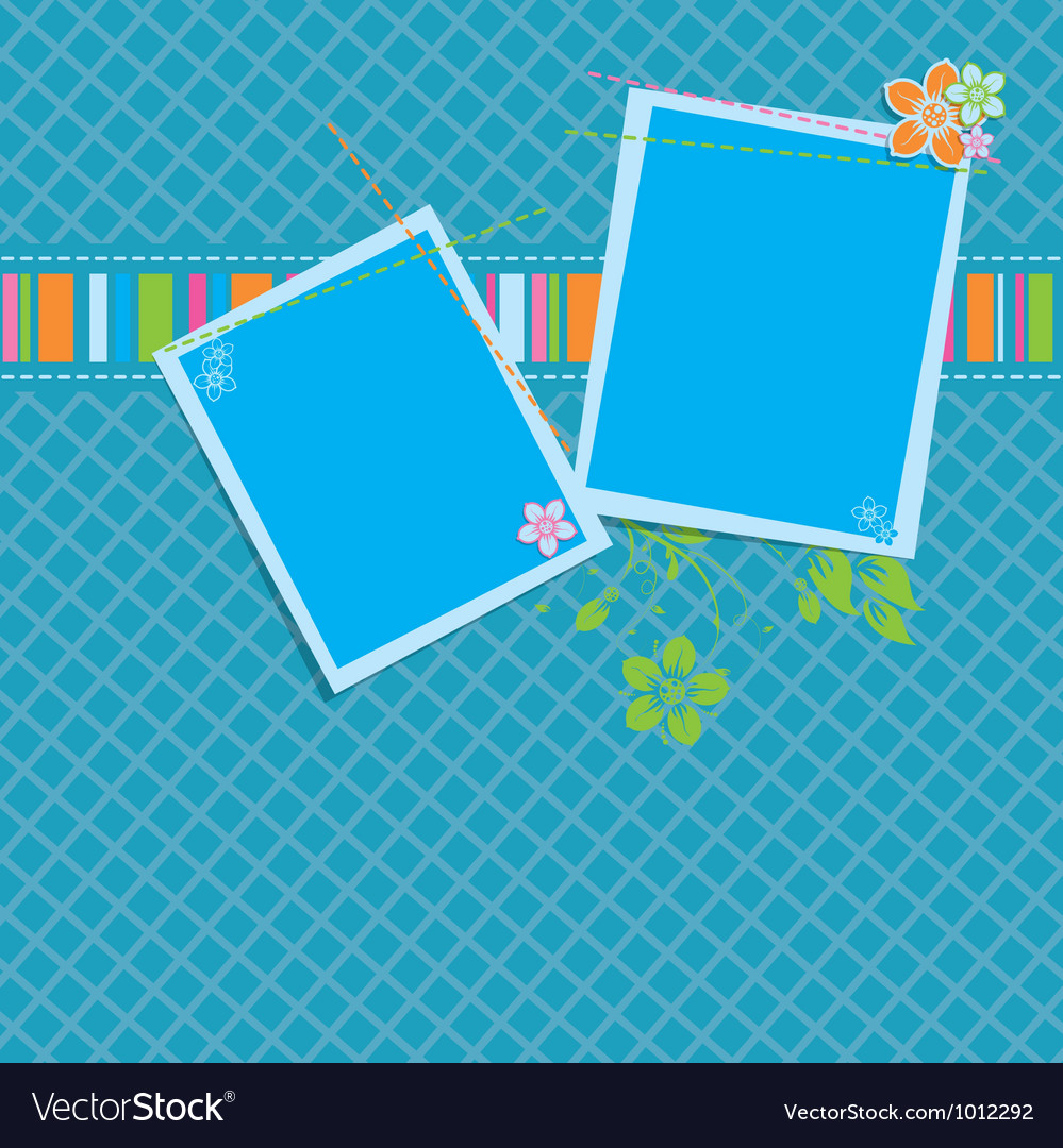 Scrapbook background template vector | Price: 1 Credit (USD $1)