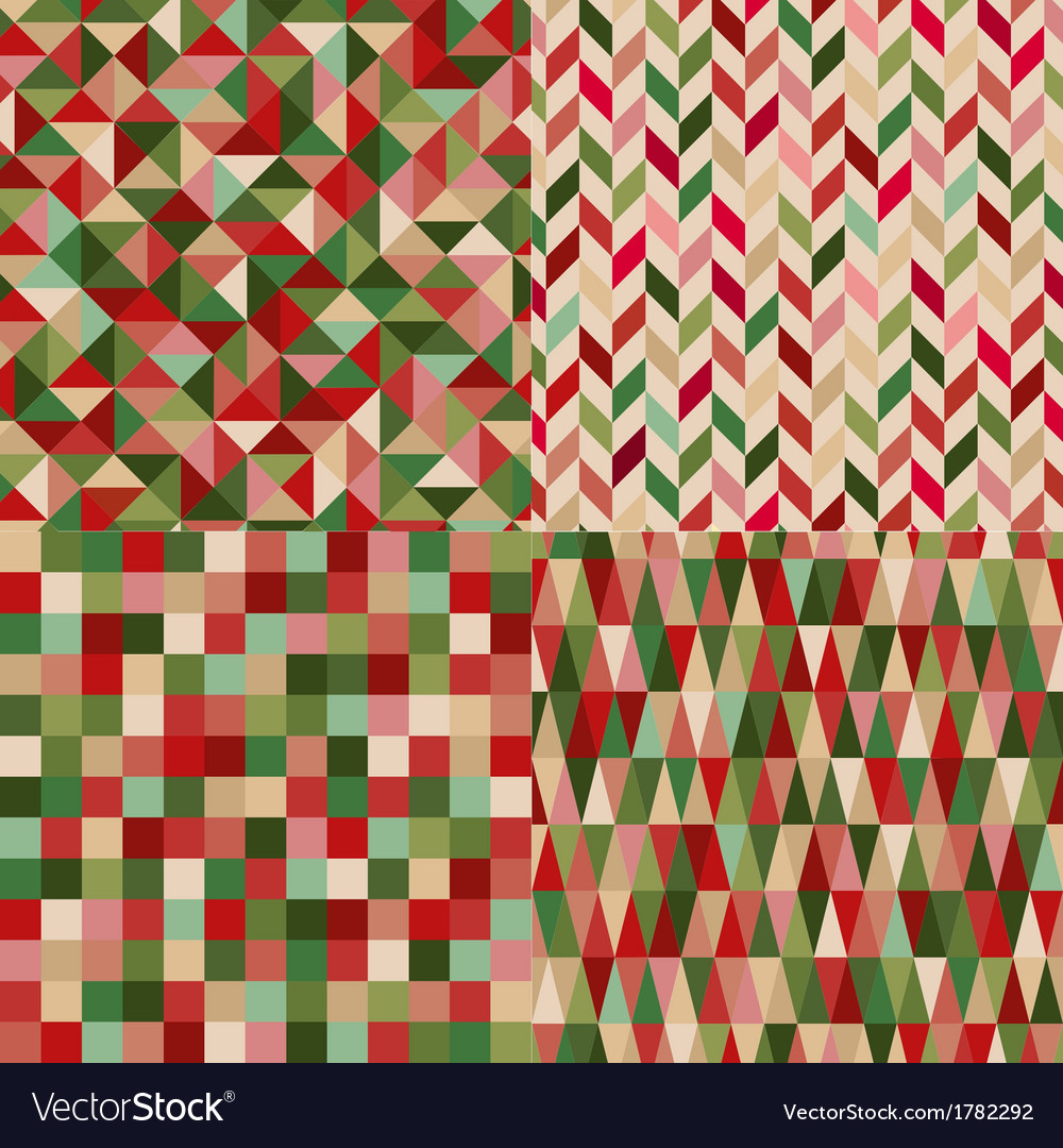 Seamless geometric pattern with christmas colors vector | Price: 1 Credit (USD $1)