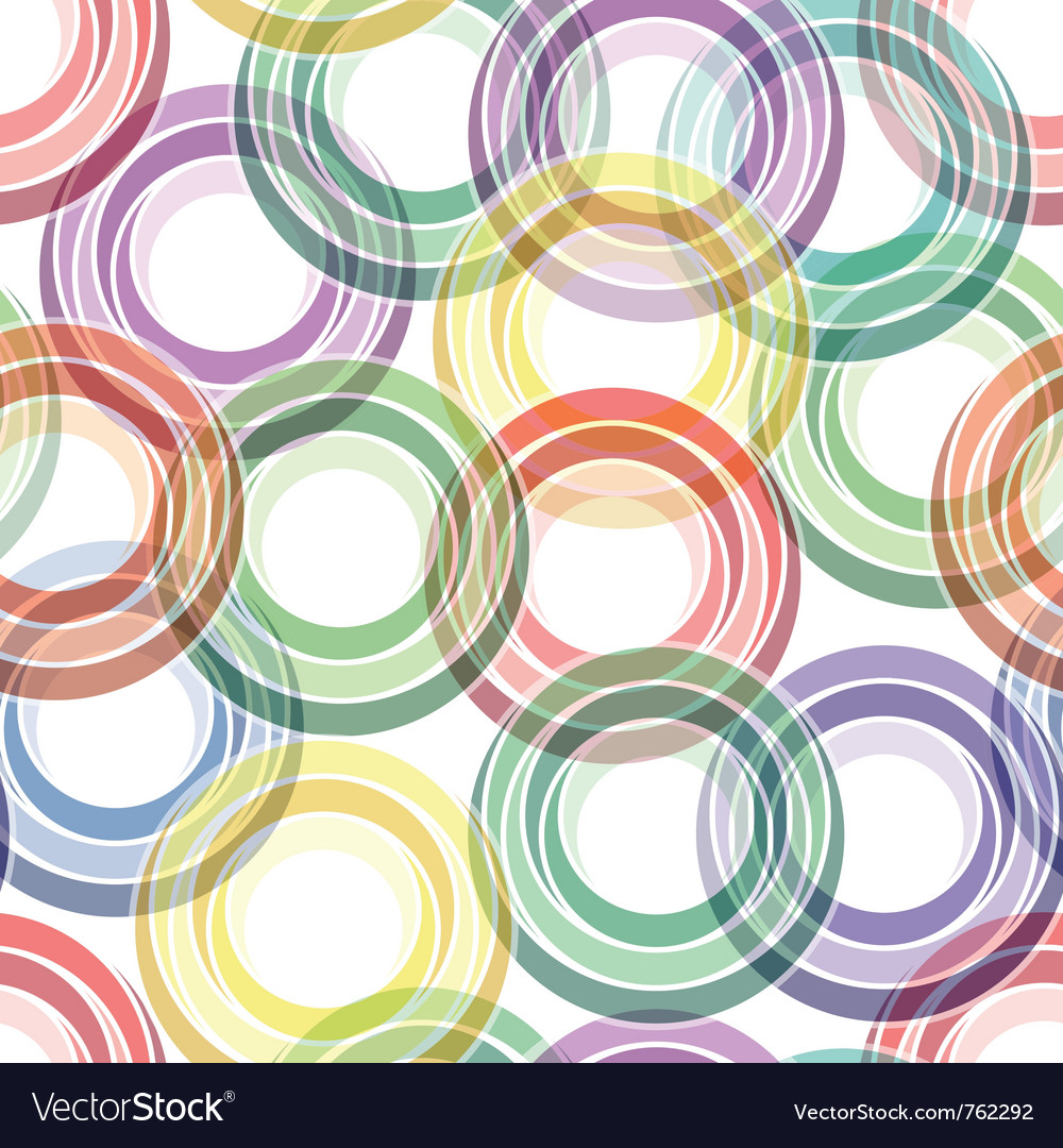 Seamless ring pattern vector | Price: 1 Credit (USD $1)