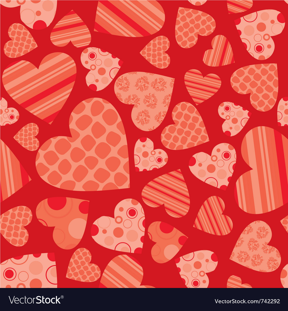 Seamless valentine pattern vector | Price: 1 Credit (USD $1)