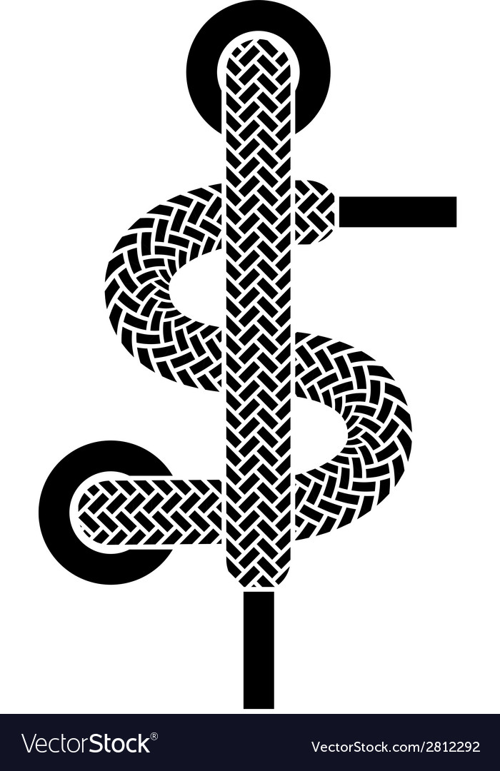 Shoe lace american dollar symbol vector | Price: 1 Credit (USD $1)