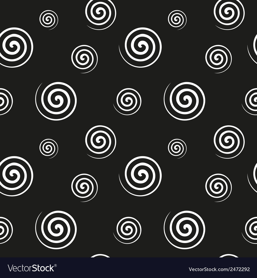 Spiral monochrome seamless texture vector | Price: 1 Credit (USD $1)