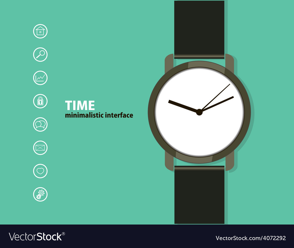 Time minimalistic web and mobile interface vector | Price: 1 Credit (USD $1)