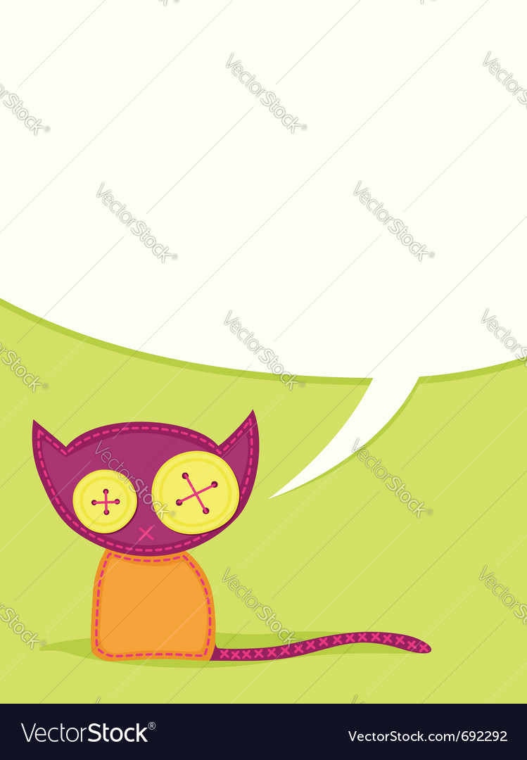 Toy cat vector | Price: 1 Credit (USD $1)