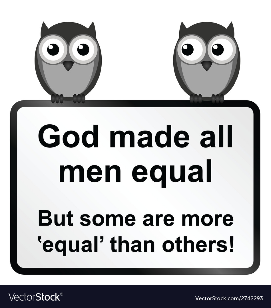All men equal vector | Price: 1 Credit (USD $1)