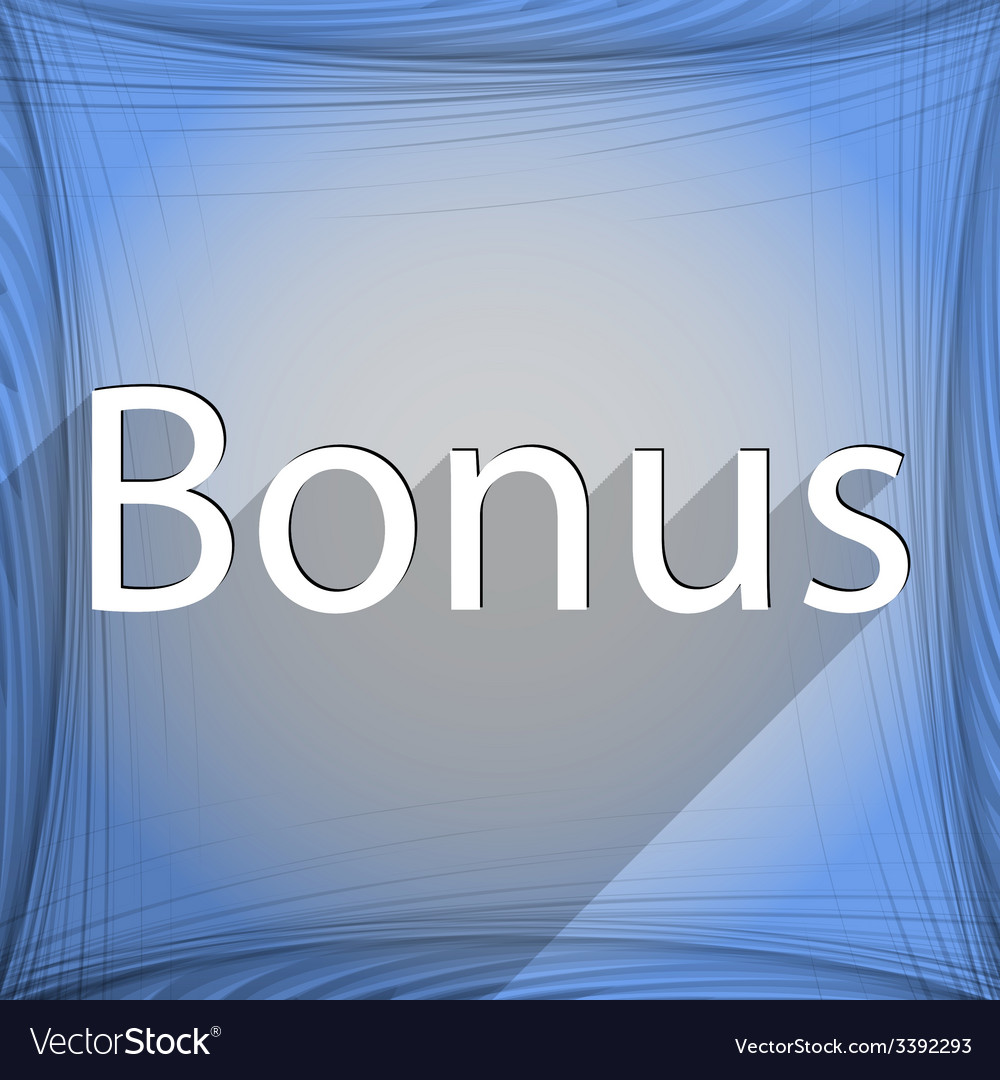 Bonus icon symbol flat modern web design with long vector | Price: 1 Credit (USD $1)