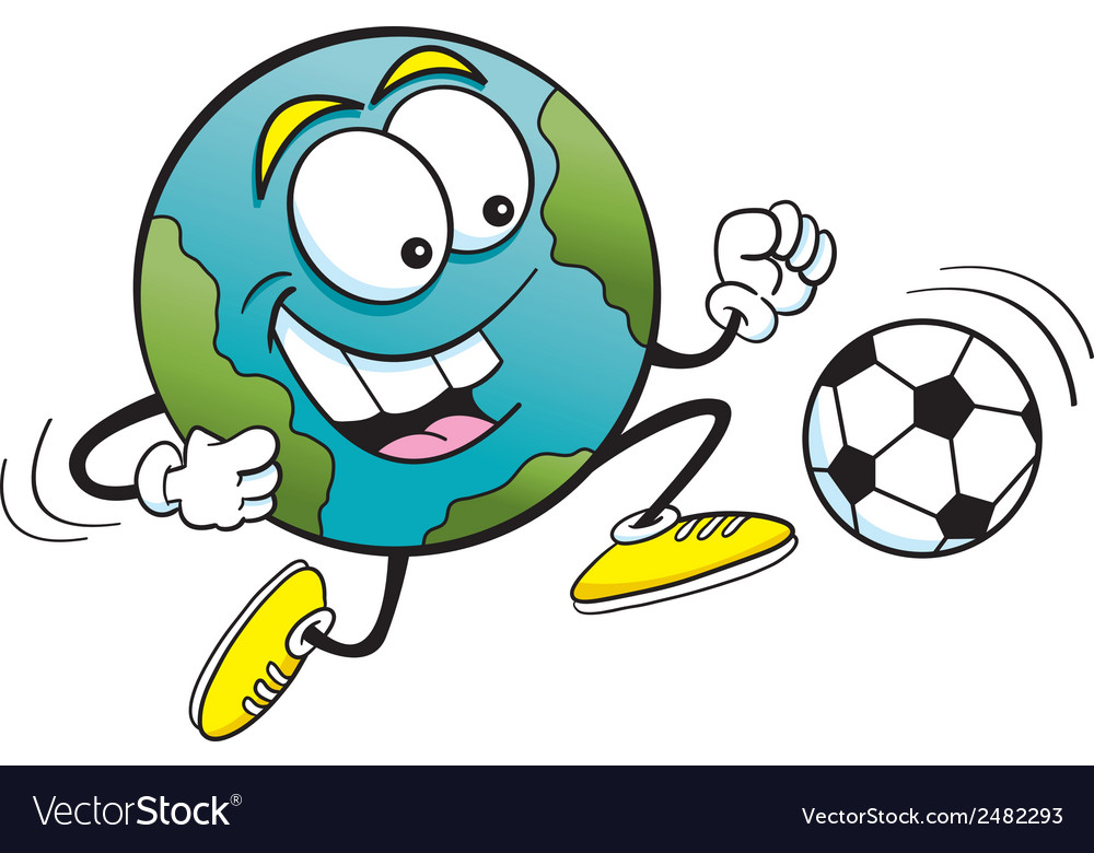 Cartoon soccer earth vector | Price: 1 Credit (USD $1)