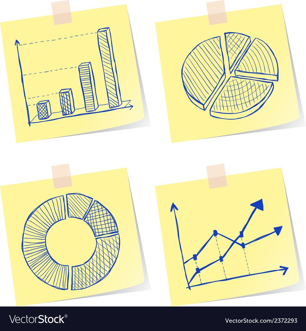 Charts sketches vector | Price: 1 Credit (USD $1)