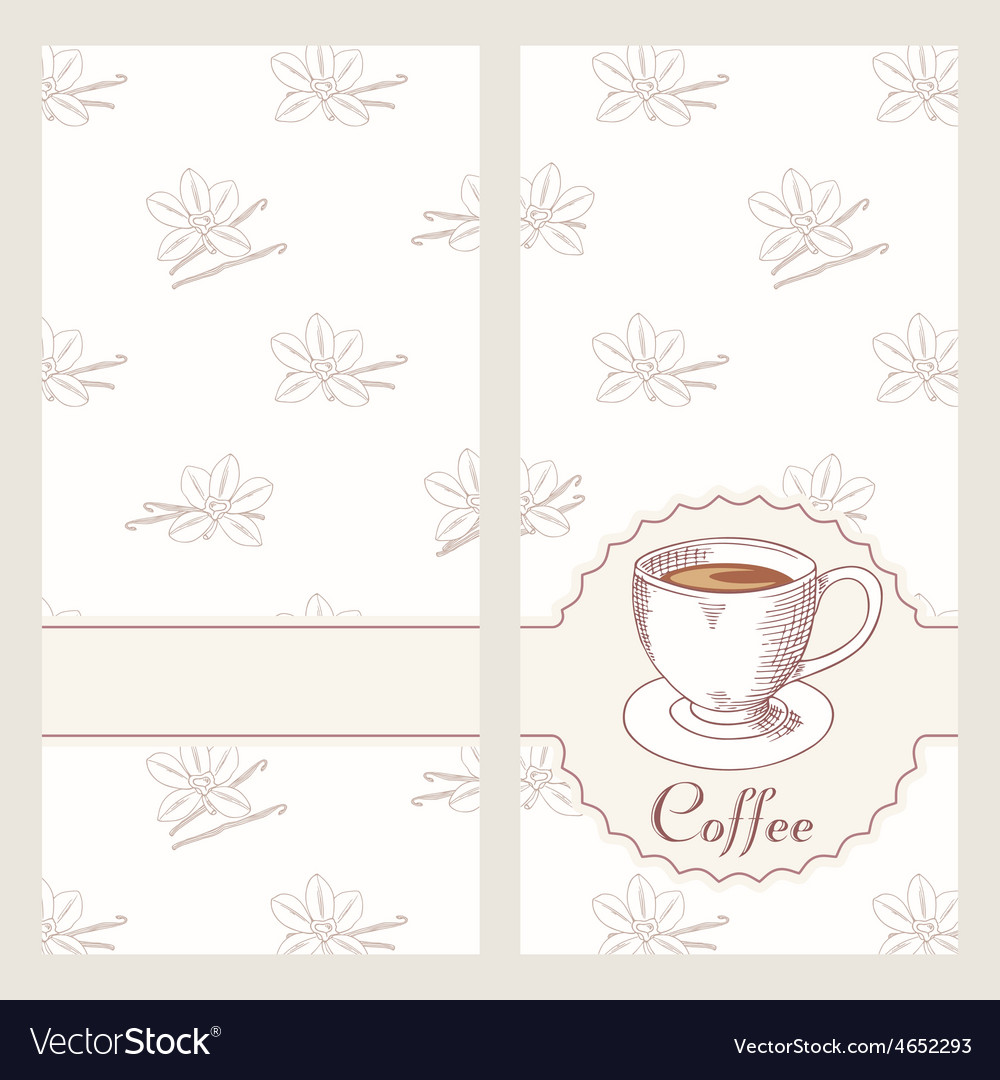 Coffee house menu template design in hand drawn vector | Price: 1 Credit (USD $1)