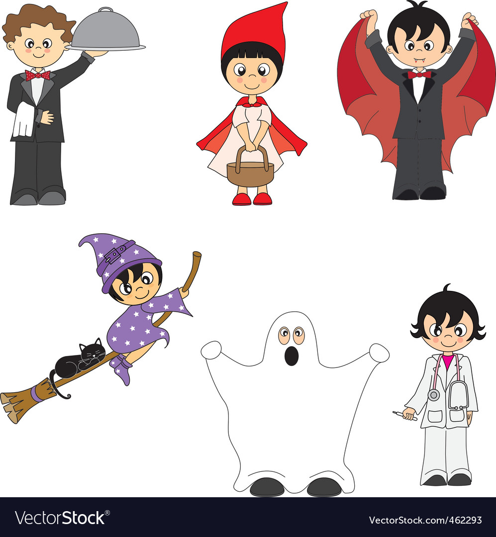 Costumes child vector