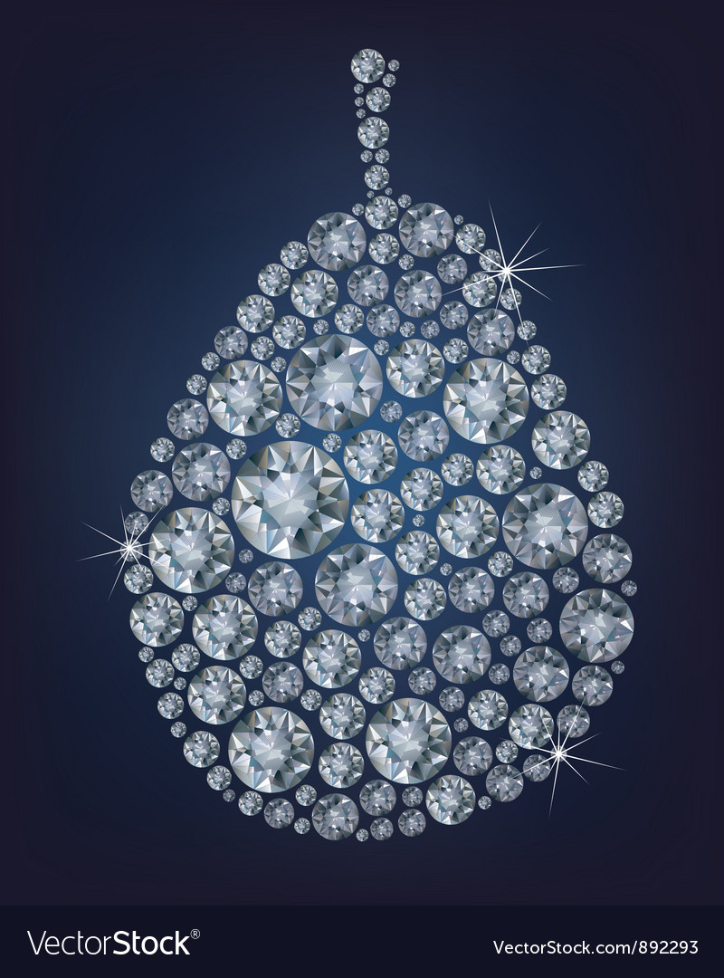Diamond pear vector | Price: 1 Credit (USD $1)