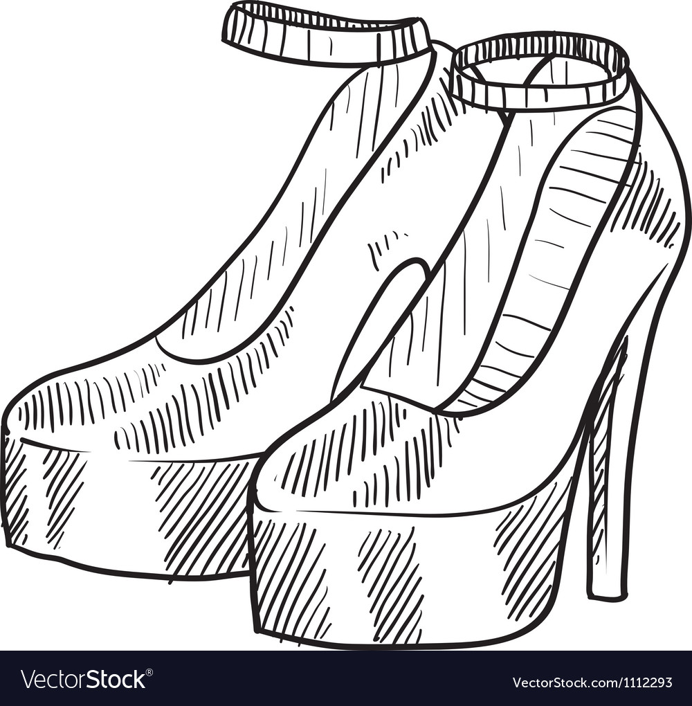 Doodle heels vector | Price: 1 Credit (USD $1)