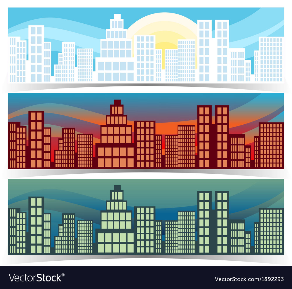 Downtown banners vector | Price: 1 Credit (USD $1)