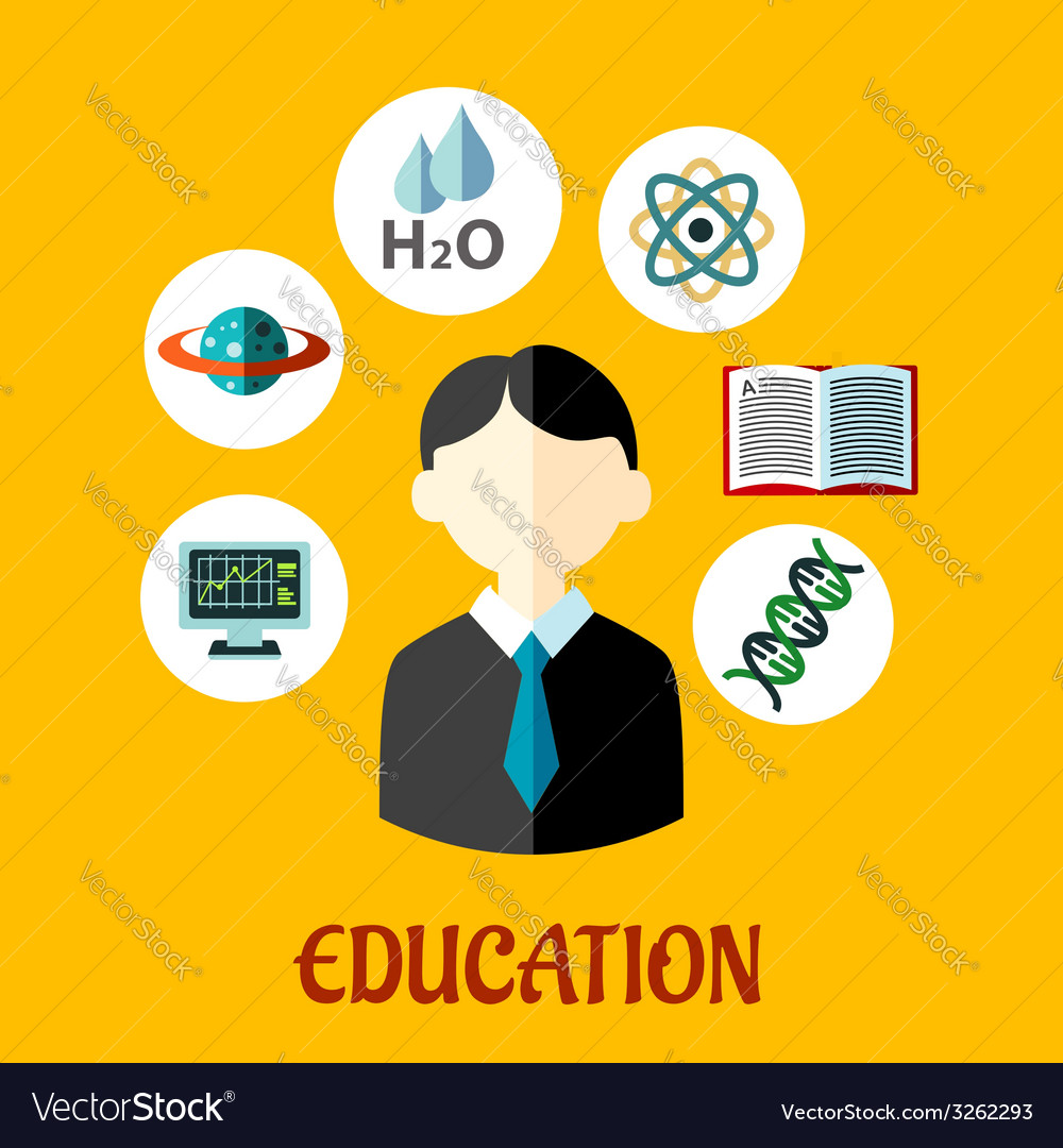 Education flat infographics template vector | Price: 1 Credit (USD $1)