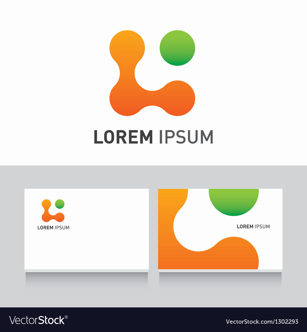 Logo company card organic vector | Price: 1 Credit (USD $1)