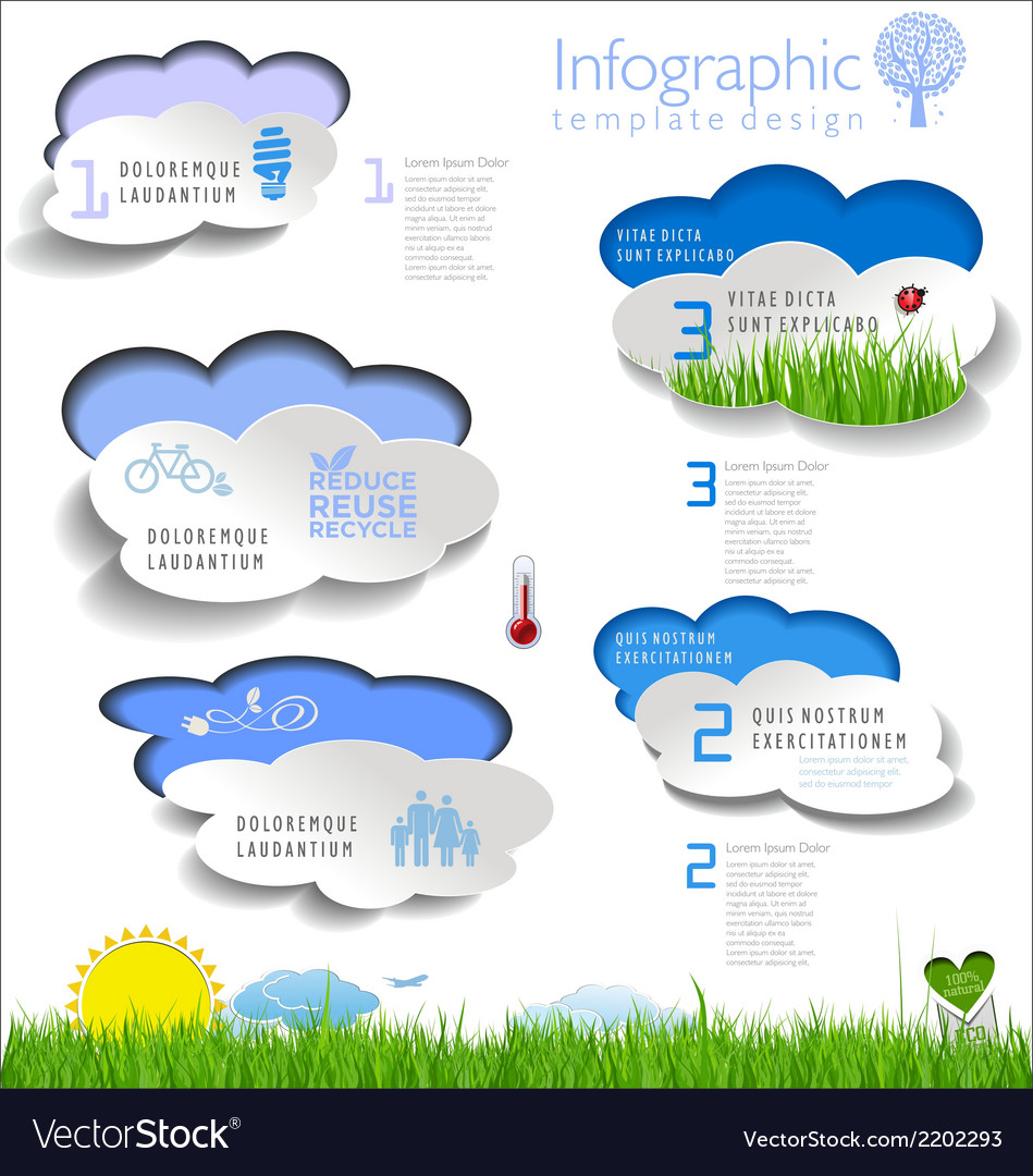 Modern ecology infographic template vector | Price: 1 Credit (USD $1)