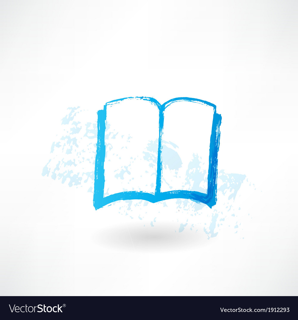 Open book grunge icon vector | Price: 1 Credit (USD $1)