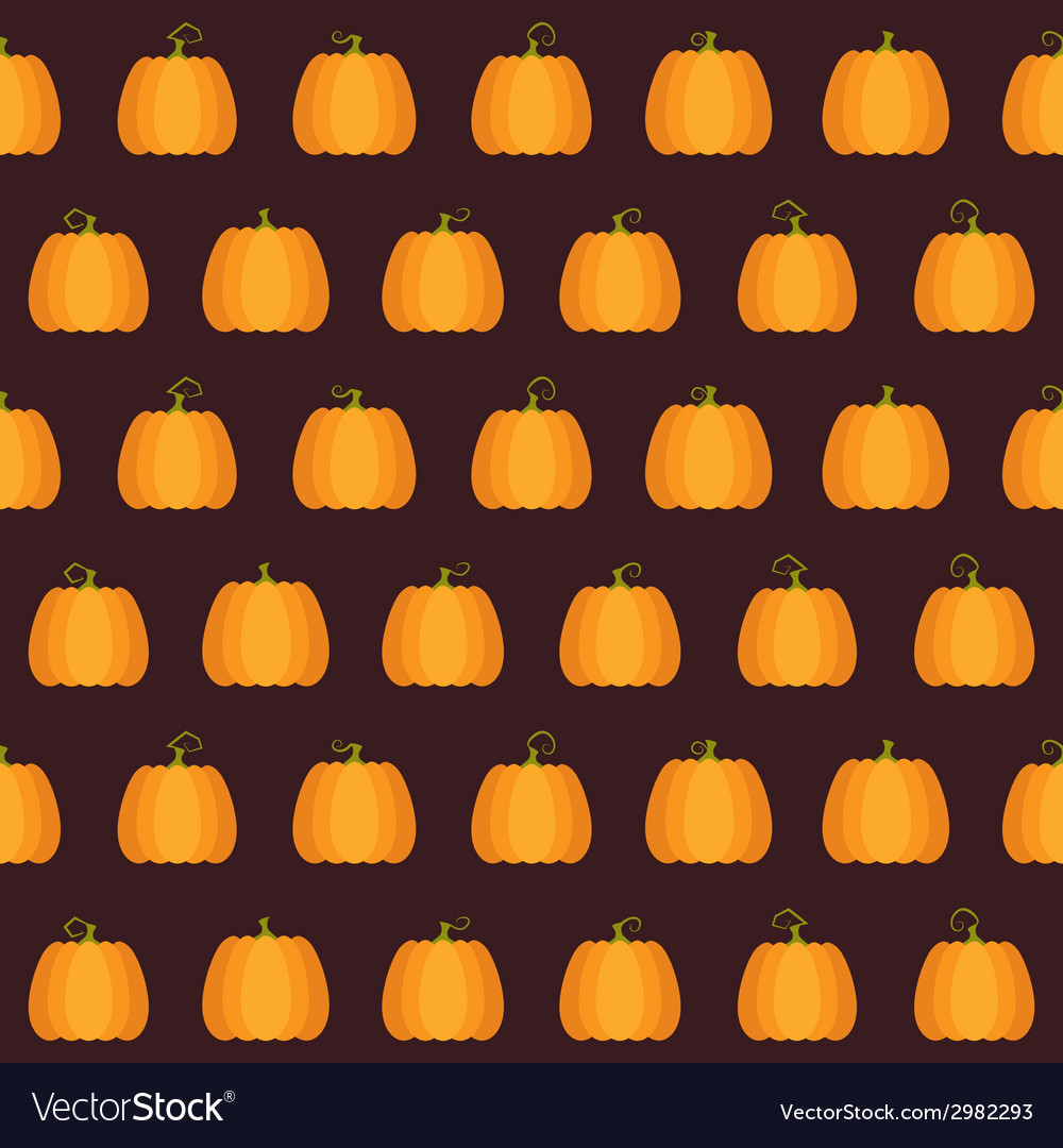 Seamless halloween pumpkin pattern vector | Price: 1 Credit (USD $1)