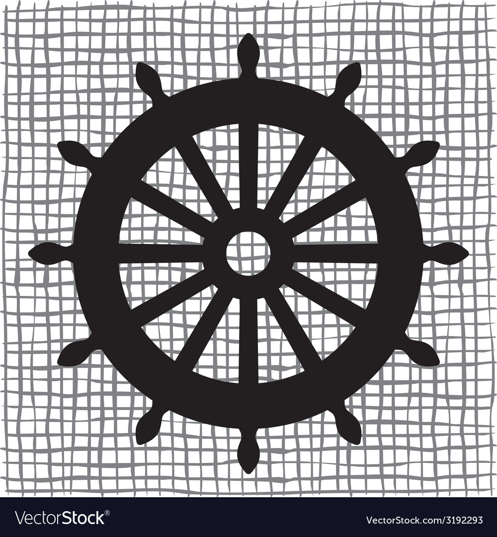 Ship wheel icon resize vector | Price: 1 Credit (USD $1)