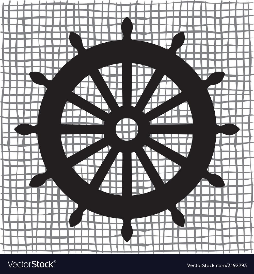 Ship wheel icon resize vector