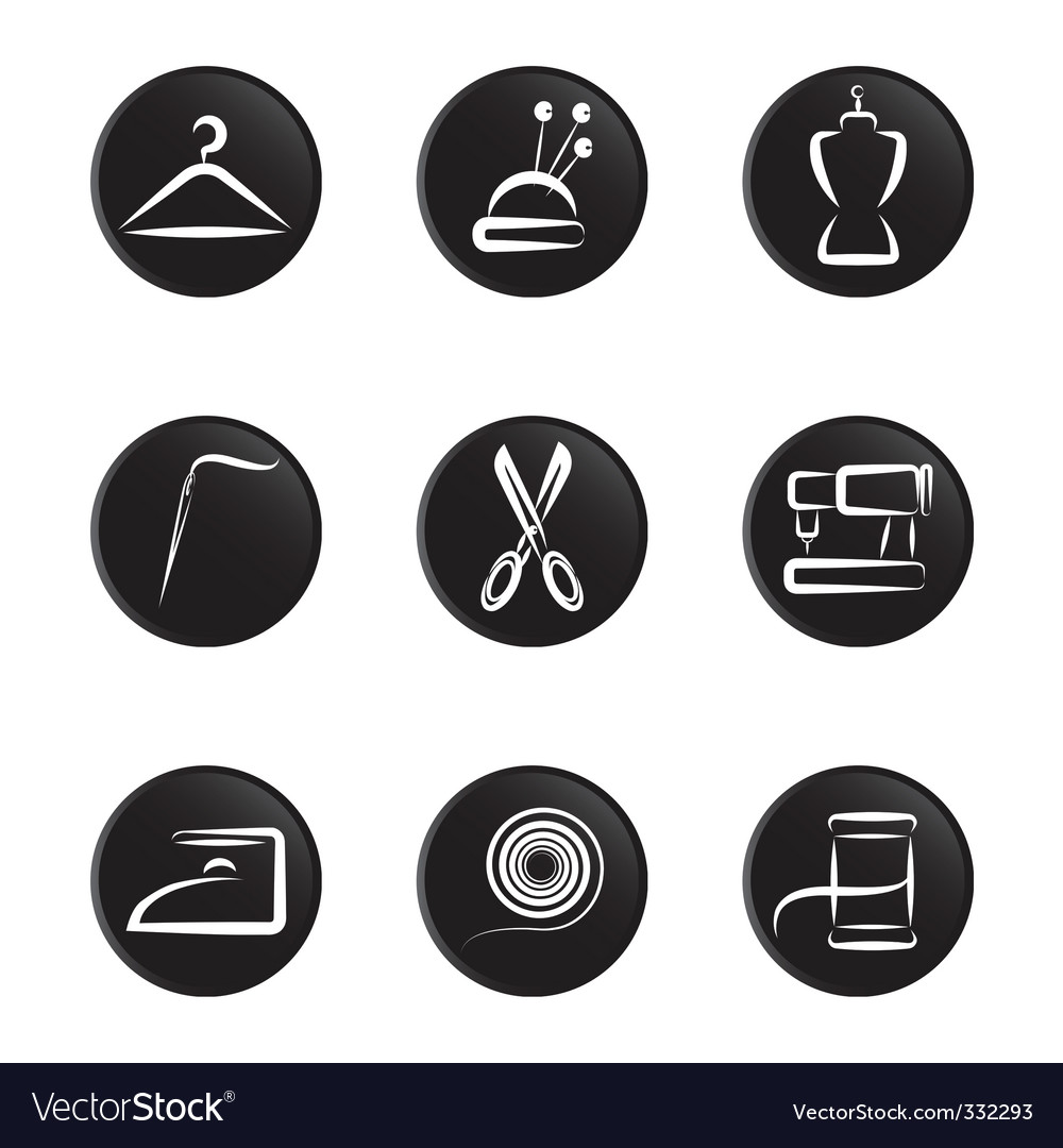 Tailoring object icon vector | Price: 1 Credit (USD $1)