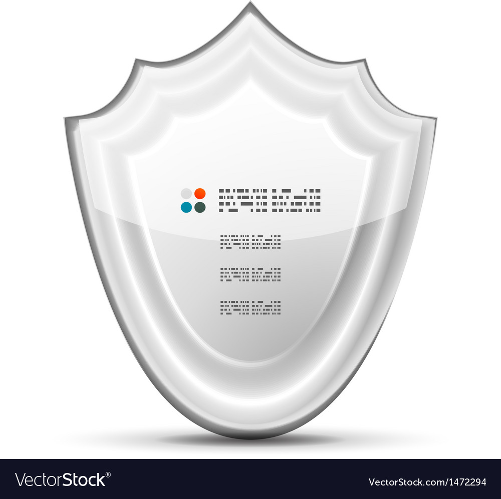 3d white protection concept vector | Price: 1 Credit (USD $1)