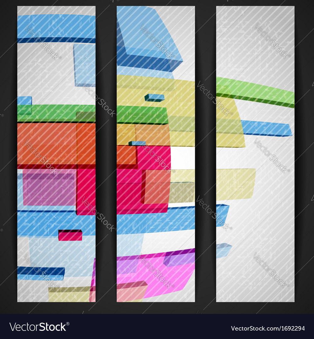 Abstract rectangle banner vector | Price: 1 Credit (USD $1)