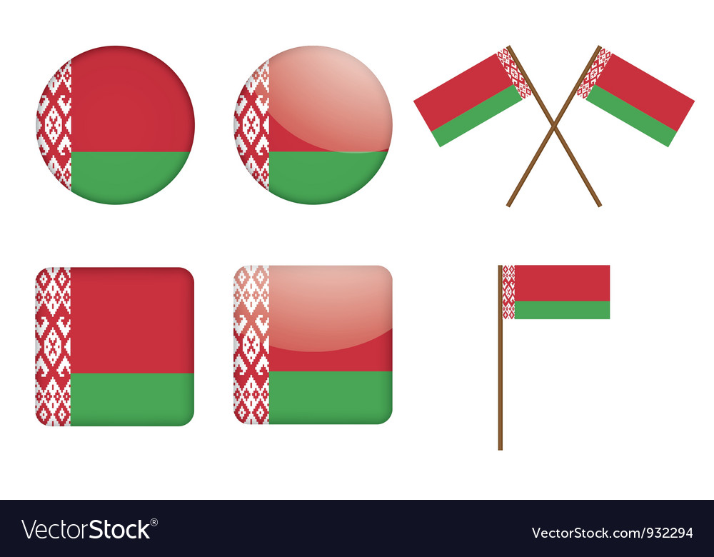 Badges with flag of belarus vector | Price: 1 Credit (USD $1)