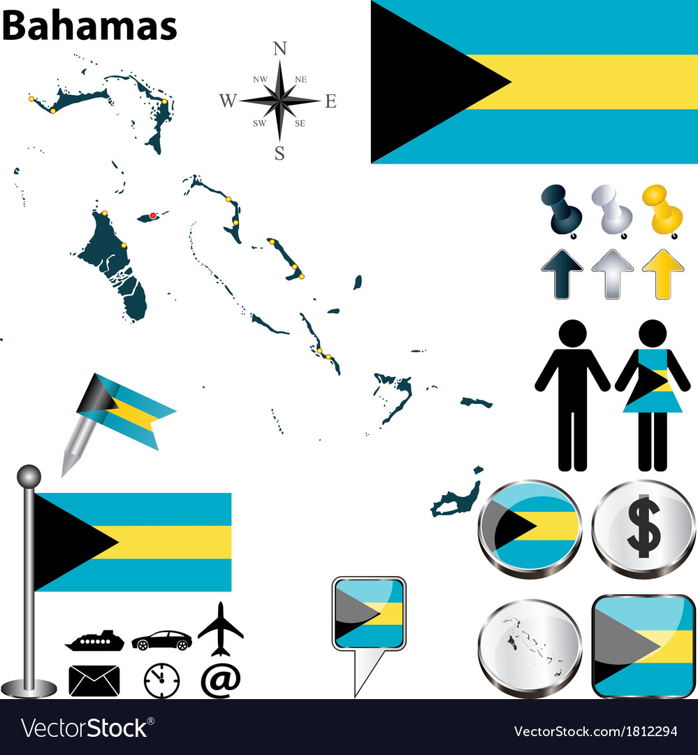 Bahamas map vector | Price: 1 Credit (USD $1)