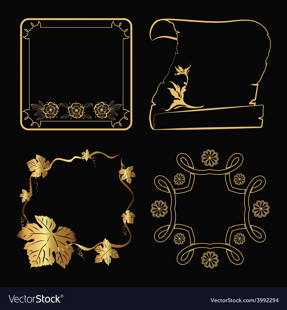 Decorative gold frame vector | Price: 1 Credit (USD $1)