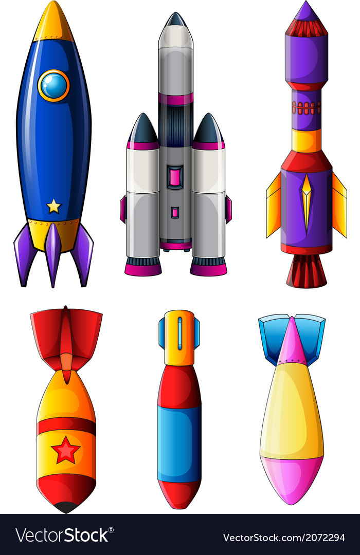 Explosive rockets vector | Price: 1 Credit (USD $1)