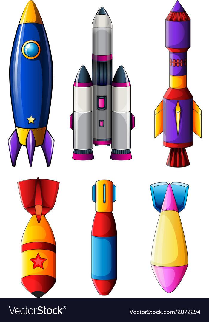 Explosive rockets vector | Price: 1 Credit (USD $1)