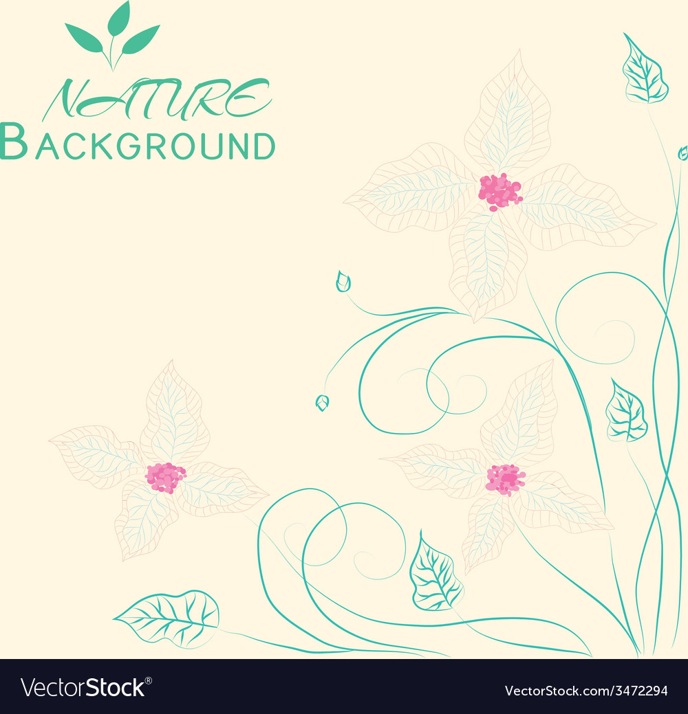 Floral nature background concept vector | Price: 1 Credit (USD $1)