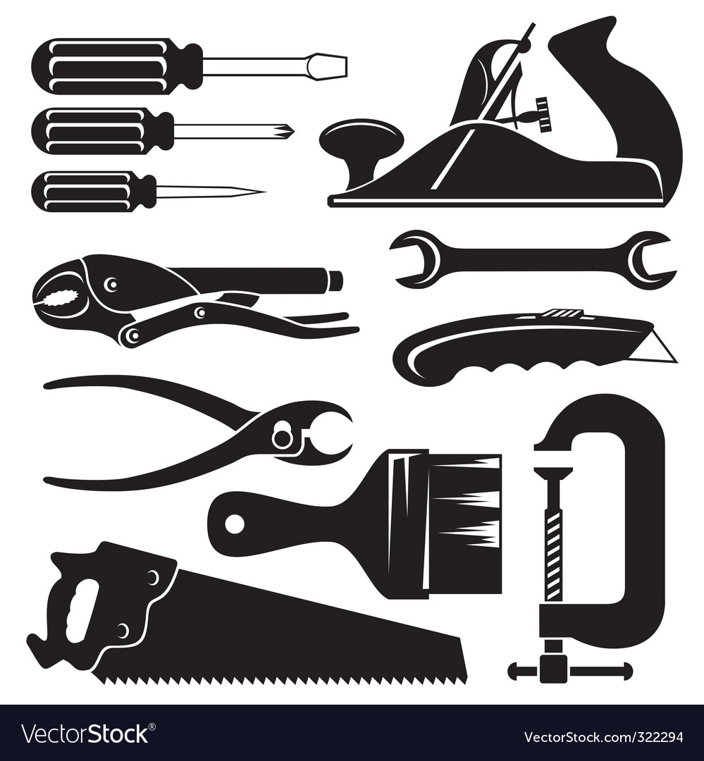 Hand tools vector | Price: 1 Credit (USD $1)