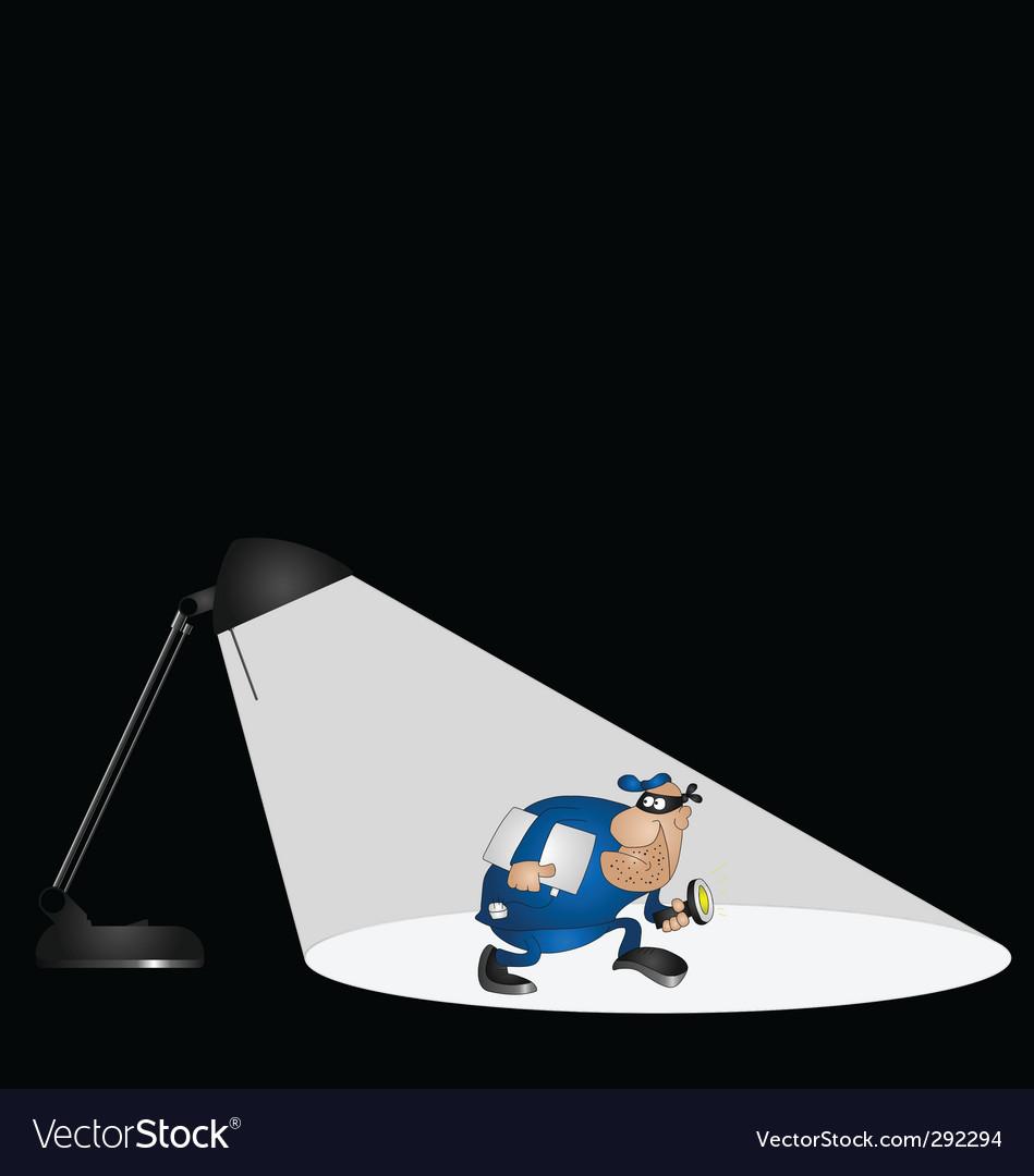 Lamp burglar vector | Price: 1 Credit (USD $1)