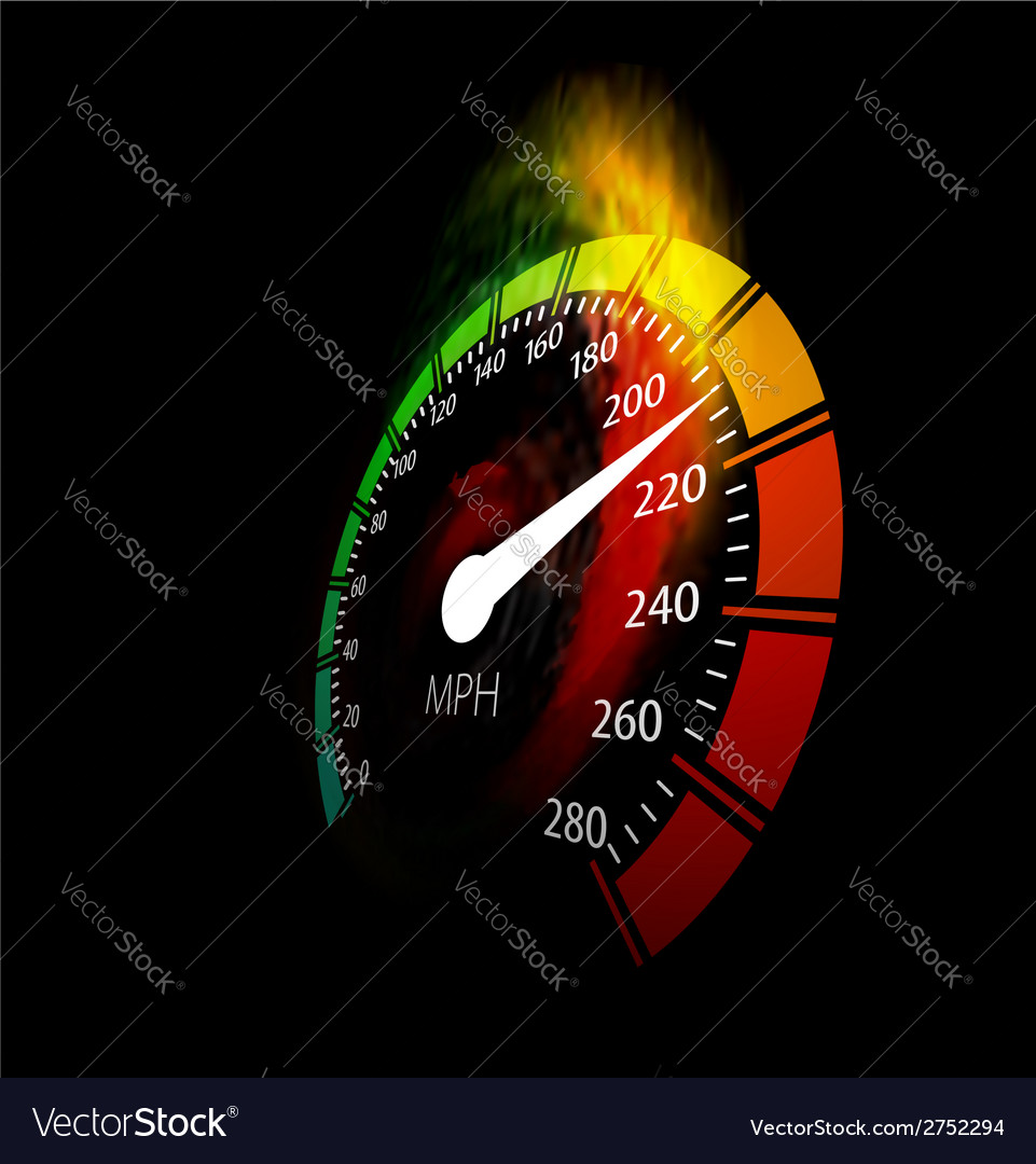 Speedometer with speed fire path vector | Price: 1 Credit (USD $1)