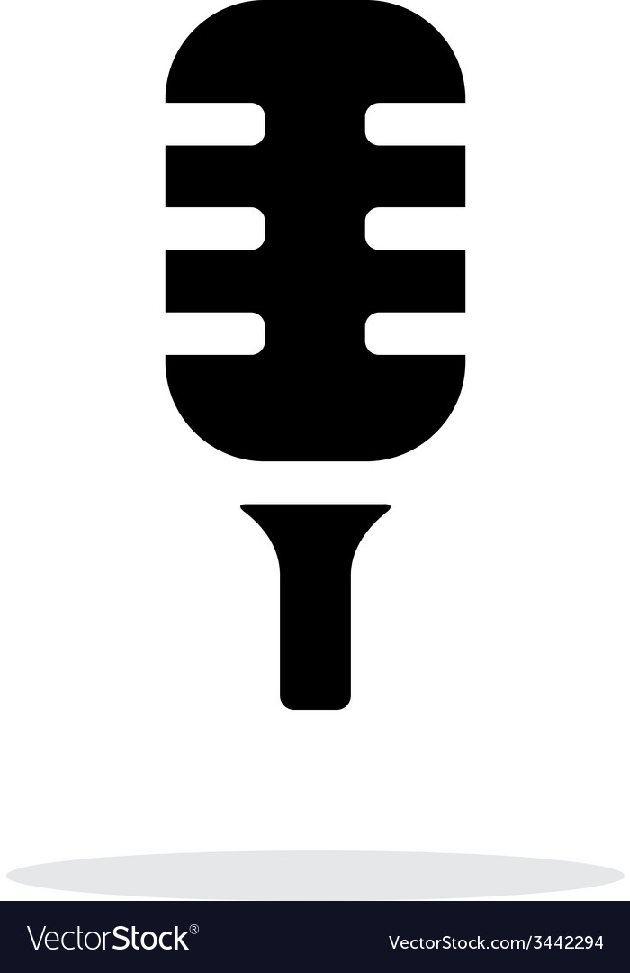 Studio microphone icon on white background vector | Price: 1 Credit (USD $1)