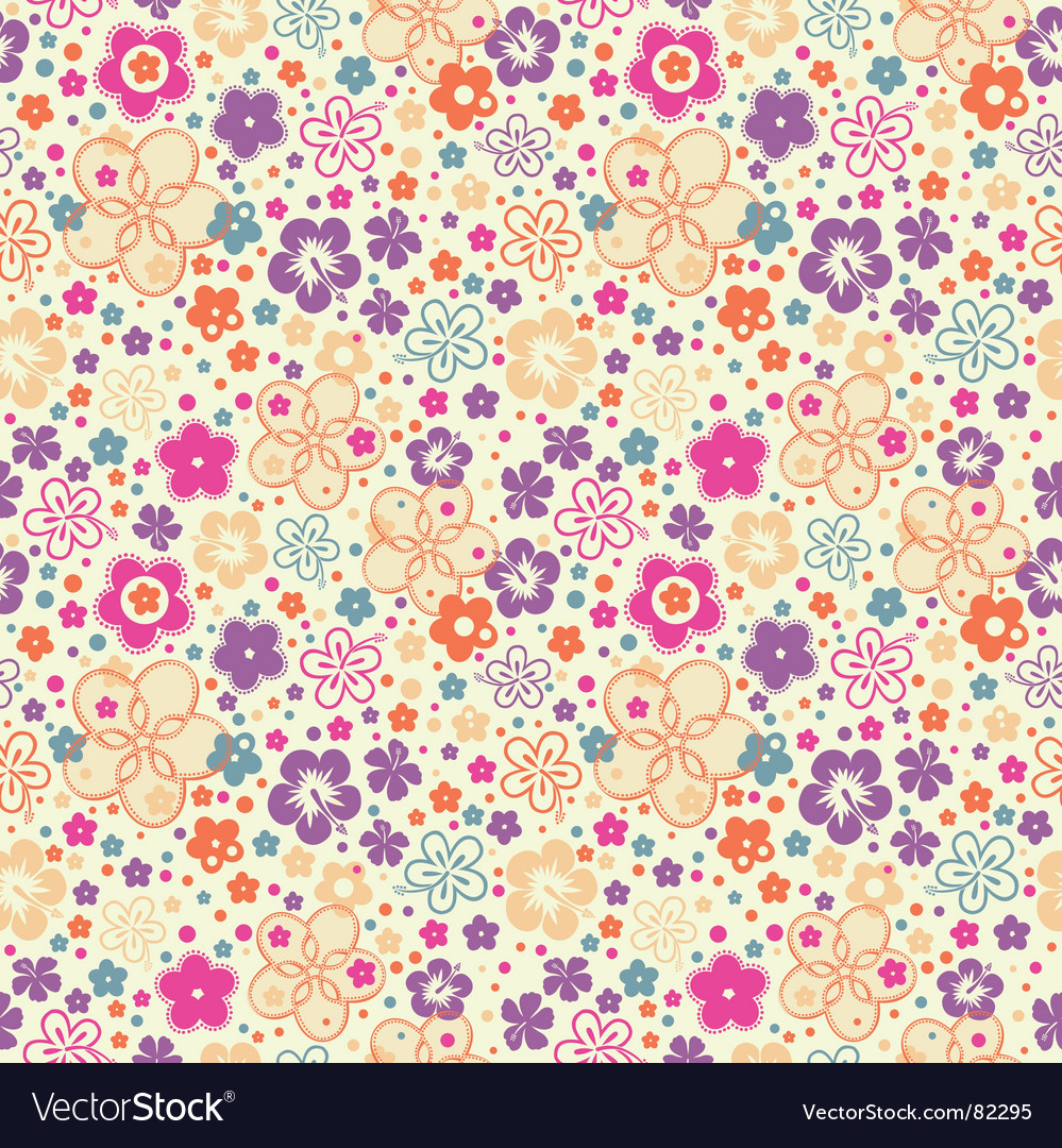 Ditsy summer floral vector | Price: 1 Credit (USD $1)