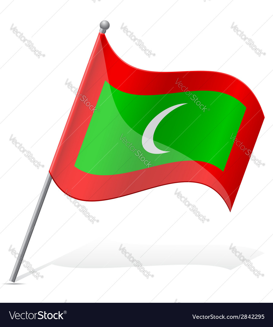 Flag of maldives vector | Price: 1 Credit (USD $1)
