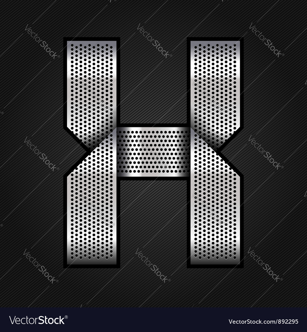 Letter metal chrome ribbon - x vector | Price: 1 Credit (USD $1)