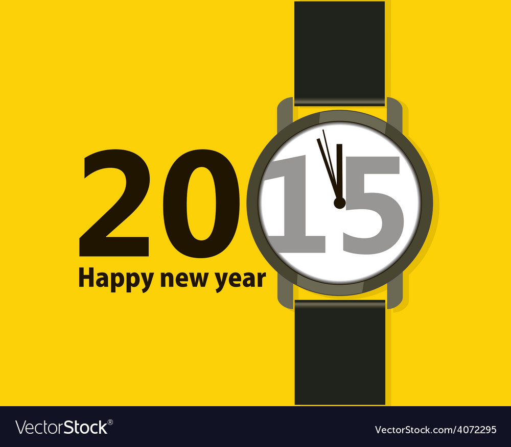 Minimalistic creative poster happy new year vector | Price: 1 Credit (USD $1)
