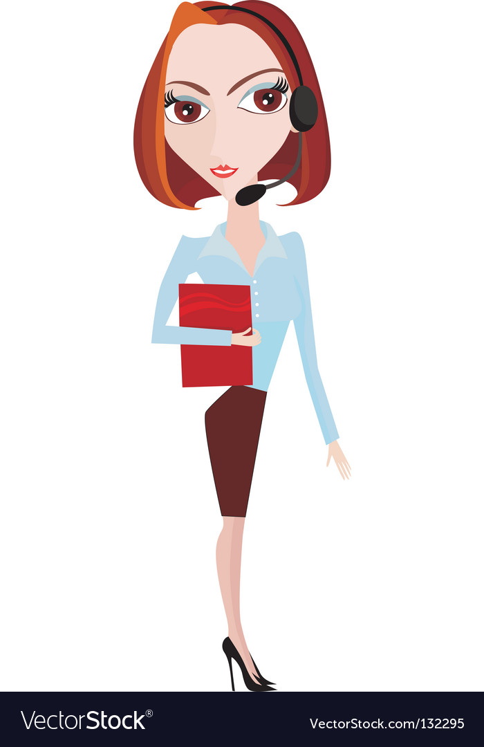 Office woman vector | Price: 1 Credit (USD $1)