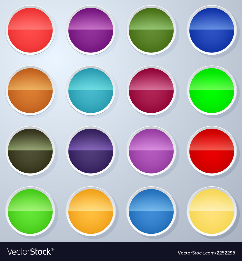 Paper buttons collection vector | Price: 1 Credit (USD $1)