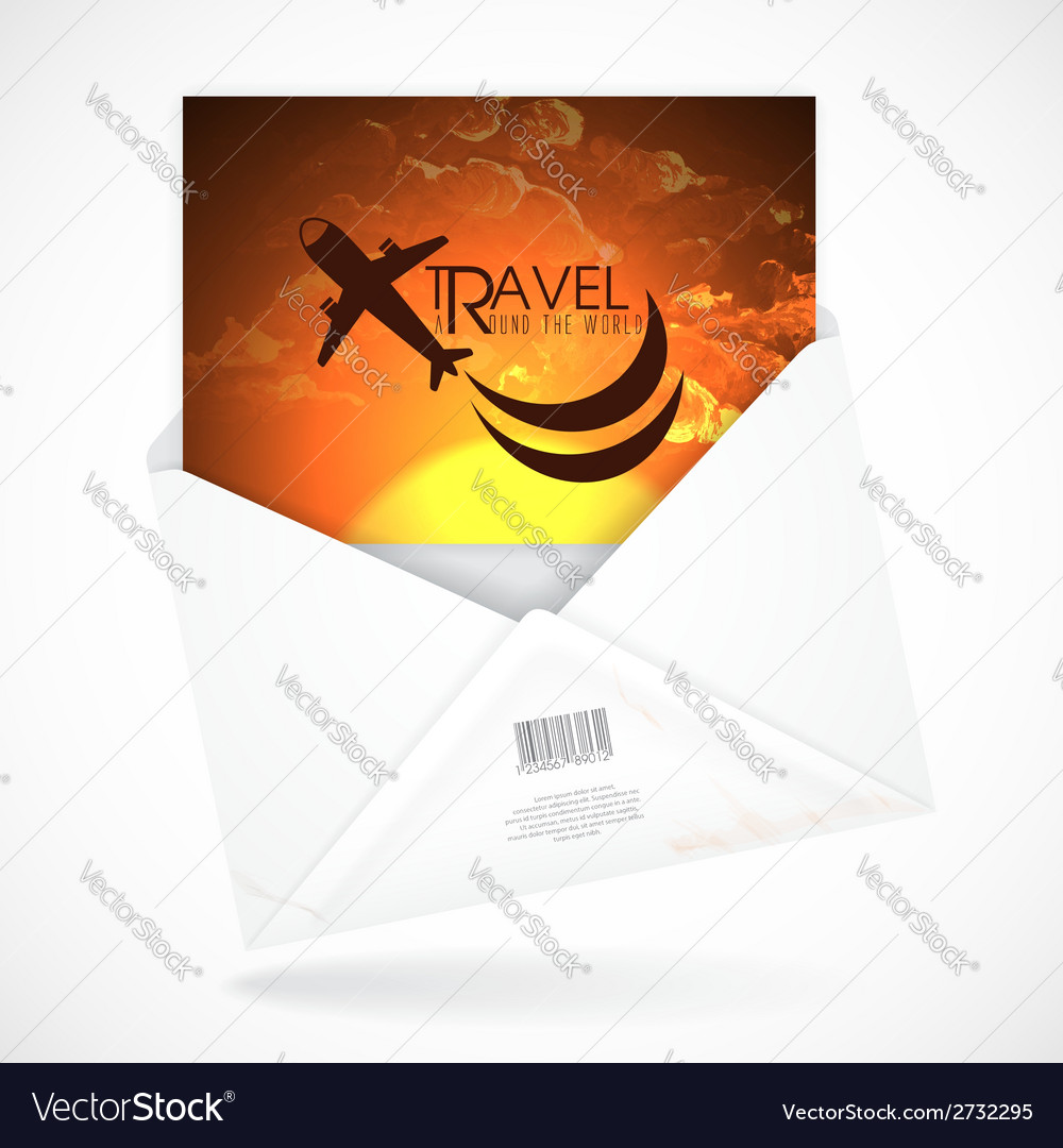 Postal envelopes with greeting card vector   Price: 1 Credit (USD $1)