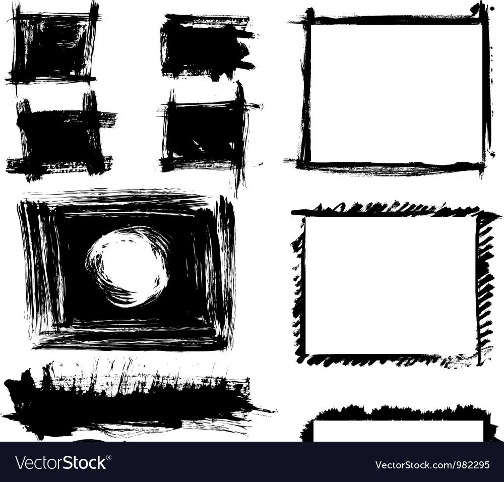 Set of grunge frames vector | Price: 1 Credit (USD $1)