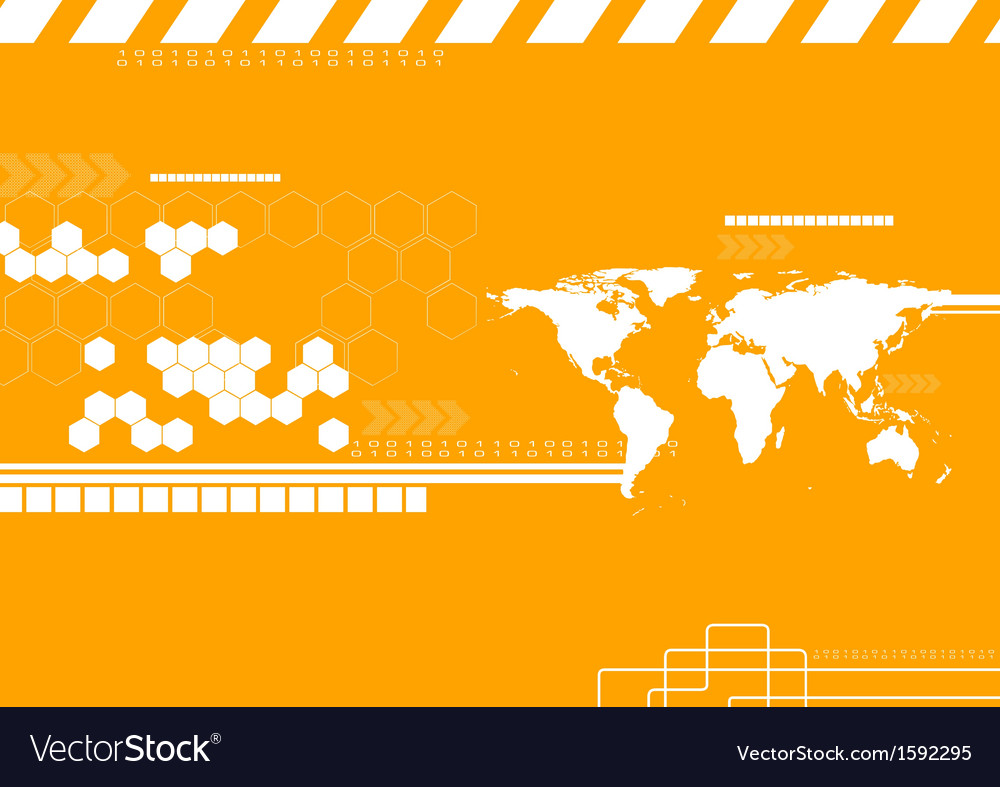 Technology world map backdrop vector | Price: 1 Credit (USD $1)