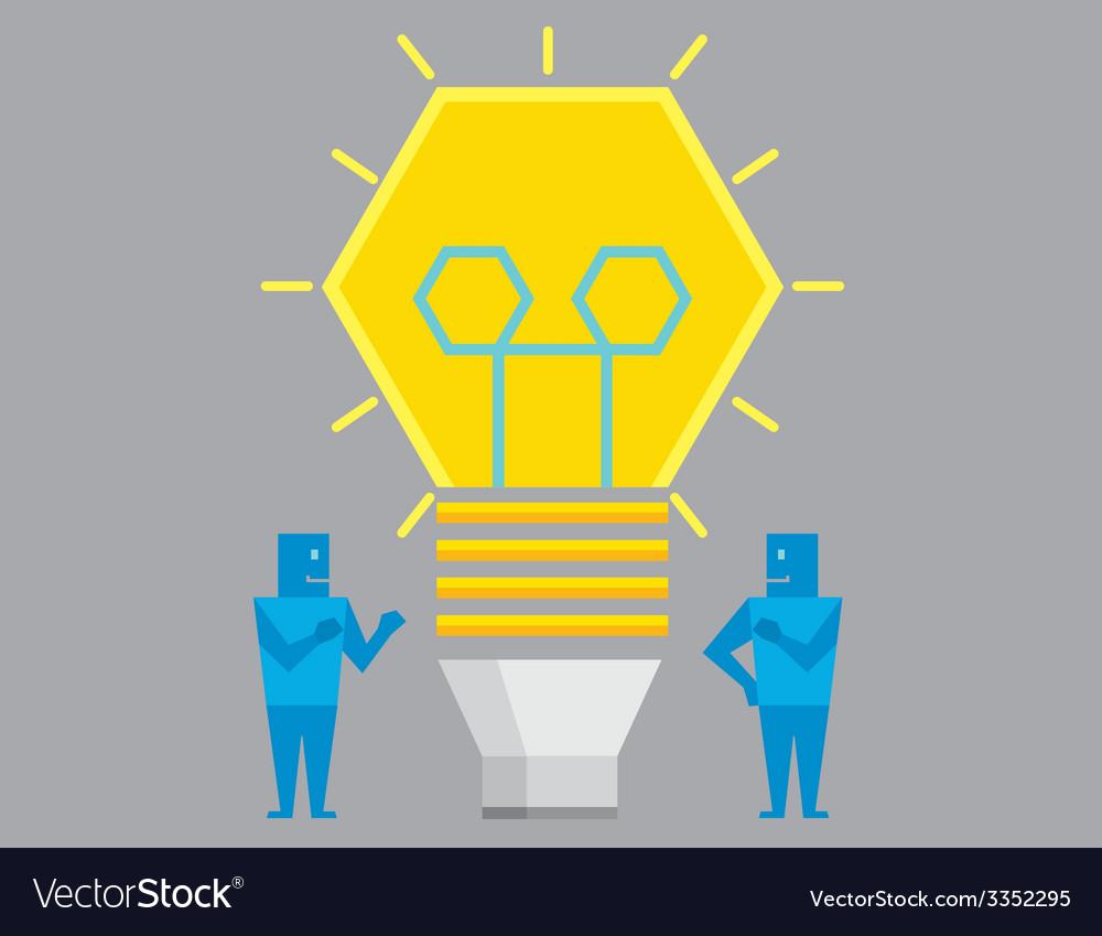 Two businessman get idea vector | Price: 1 Credit (USD $1)