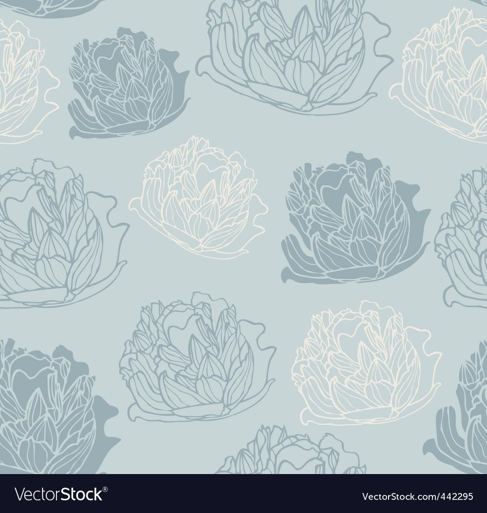 Vintage peony pattern vector | Price: 1 Credit (USD $1)