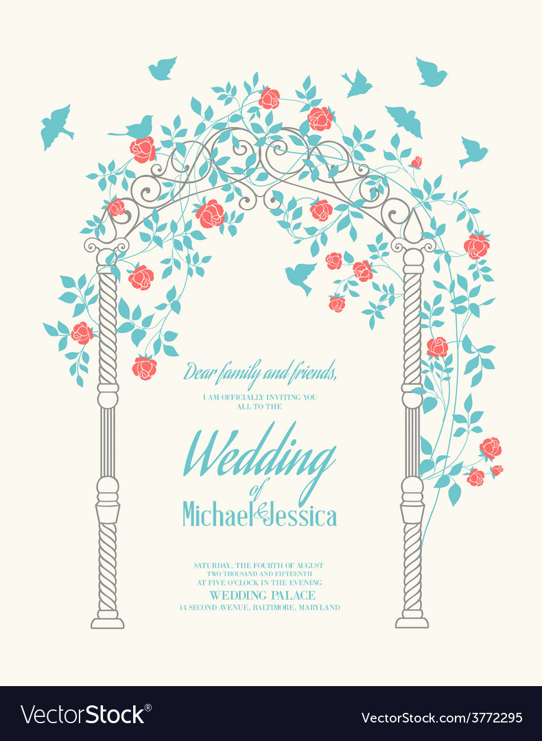 Wedding rose arch vector | Price: 1 Credit (USD $1)